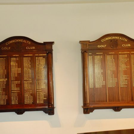 Traditional Hand Painted Honour Board Lettering using 22 Karat Gold Leaf. Commonwealth Golf Club, Oakleigh, Melbourne.