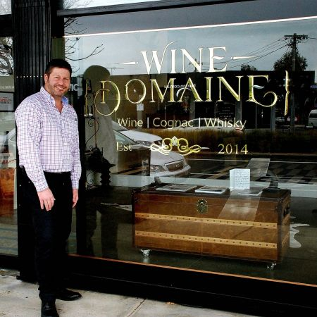 Gold Leaf Signwriting. Wine Domain, another proud owner. Bespoke Wiskey & Brandy. Geelong, Victoria.