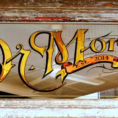 Dr.Morse gilded door panel.  <br /> Bespoke Bar & Eatery 274 Johnson St.  Abbotsford Melbourne.<br />