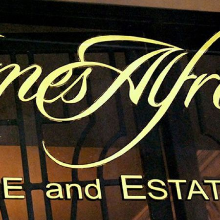 Bespoke Hand Written 24 Karat Gold Leaf window sign.<br /> James Alfredson, Studio 56 / 26 Howey Pl. Melbourne CBD Victoria<br />