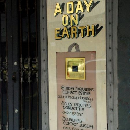 Reverse Gilded Sign With 2-tone Shading And Effects .A Day On Earth, Chapel St, Windsor, Melbourne.