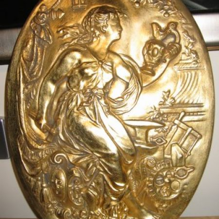 24 Carat Gold Leaf Gilding of Decorative Shield