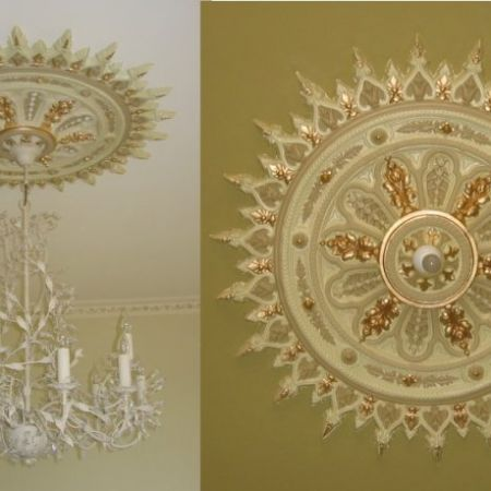 Gold Leaf Gilding of Ceiling Rosettes