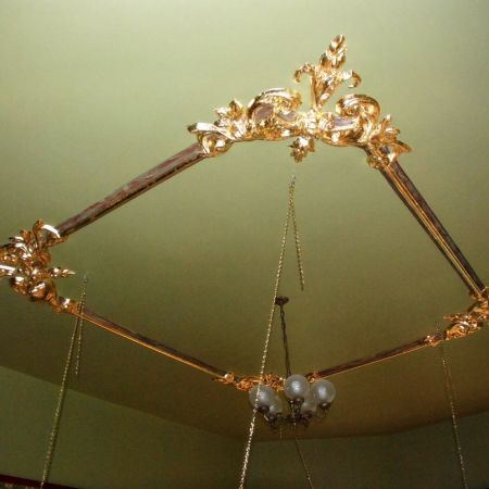 Gold Leaf Coating on Ceiling Decoration
