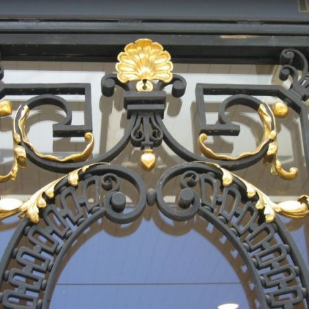 Pure Gold Leaf Gilding on Metal, (Wrought Iron)