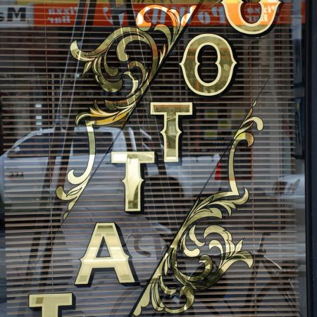 Gold Leaf Signwriting, Chapel Tattoo, Chapel Street, Prahran, Melbourne, Australia.