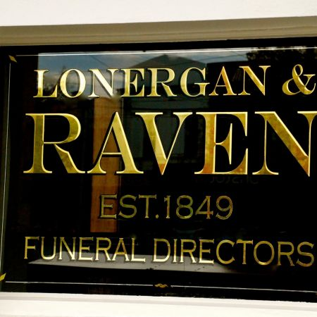 23kt Reverse Gilded Lettering Mock Emboss (Lonergan & Raven, Clifton Hill)