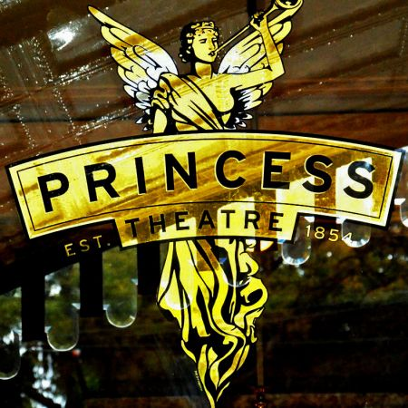 Angel logo in 24kt Gold Leaf gilding at the Princess Theatre, Spring Street, Melbourne