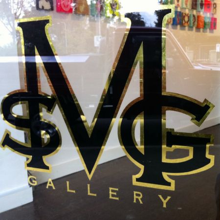 MSG Gallery, Brighton, Melbourne. Gold Leaf Signwriting on Shopfront Window.